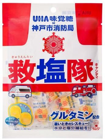 UHA味覚糖×神戸市消防局「救塩隊キャンディ」商品パッケージ