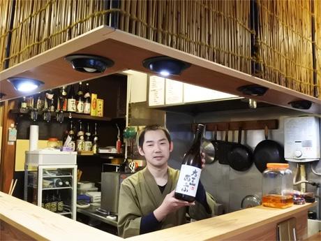 和食と中華の海鮮居酒屋「喜楽亭う~ちゃん」店主は中国福建省出身の楊宇さん。愛称は「う~ちゃん」