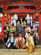 生田神社に「神戸・清盛隊」 900歳迎える平清盛ら新年祈願