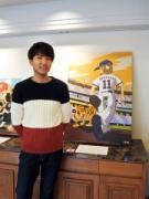 神戸でスポーツイラストレーター・りおたさん関西初個展 「ダルビッシュ×えと」テーマに