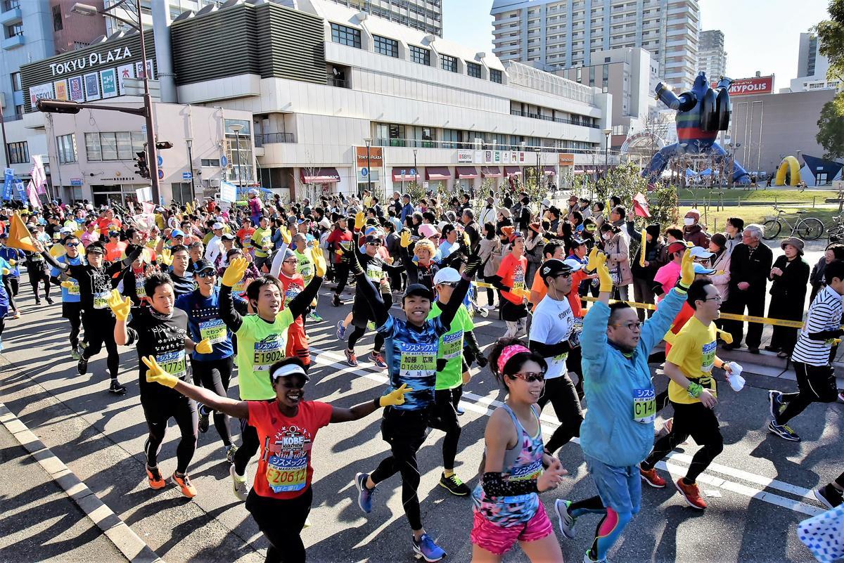 昨年11月19日開催「第7回神戸マラソン」の様子