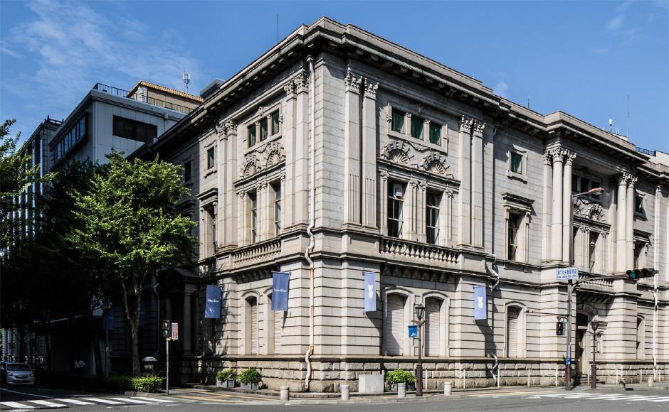 解体前の景観形成重要建築物「旧ファミリアホール(旧三菱合資会社神戸支店)」
