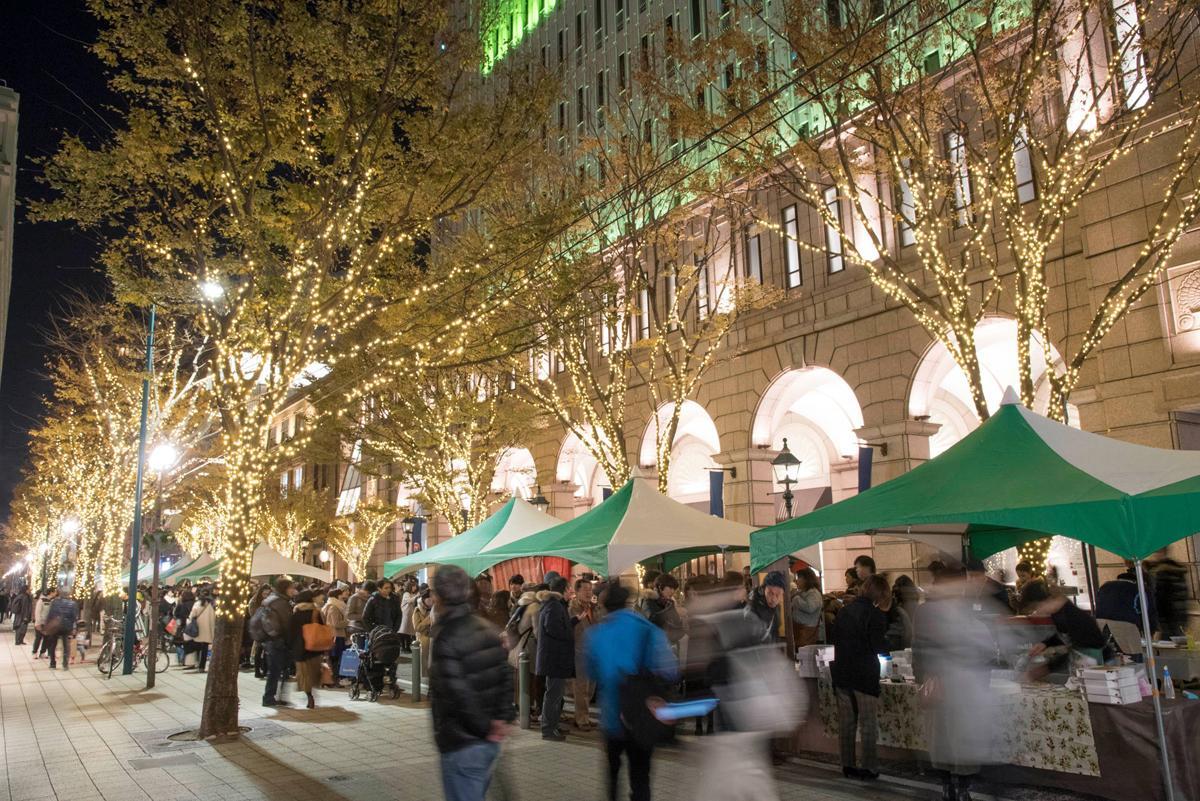 昨年11月25日に初めて開催された「旧居留地 Night Market(ナイトマーケット)」の様子