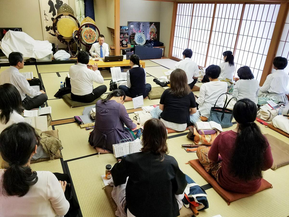 兵庫県神社庁雅楽研修会の様子