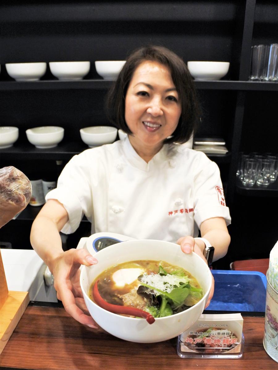 糖質ゼロ・グルテンフリーの麺屋「神戸 零糖麺家」の店主でフードライフマイスターの春日邦佳さん