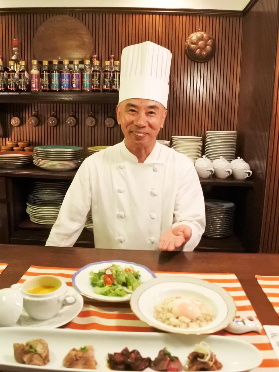 「ビストロ神戸」統括総料理長で「ビストロWAKU 神戸プレステージ」のシェフ・山下和久さん