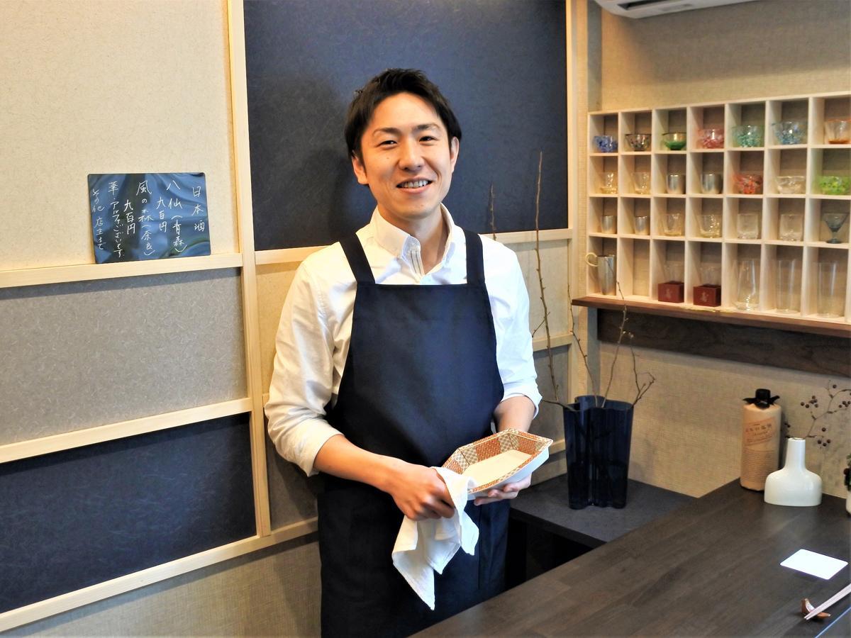 和食とおばんざいの店「おばんざい・すきやき 蒼の月」店主の岡田佳法さん