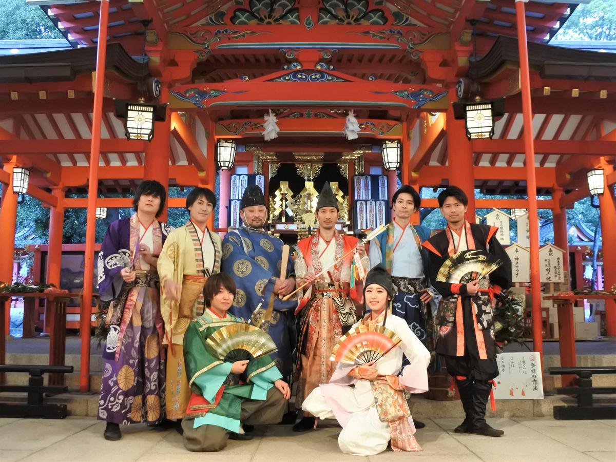 生田神社の神主・酒井康博さんと神戸・清盛隊