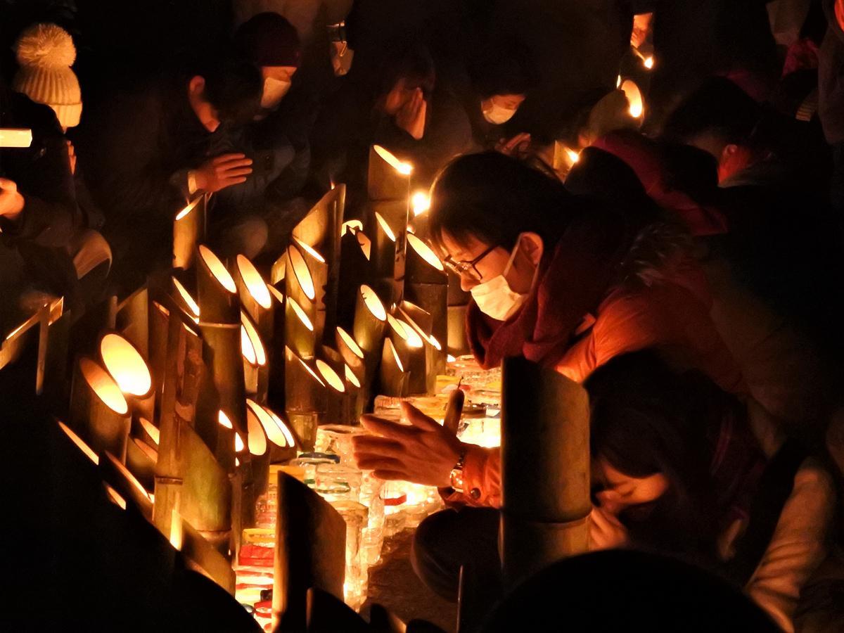 阪神・淡路大震災が起こった5時46分、黙とうがささげられた