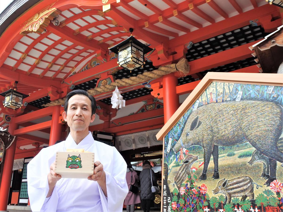 生田神社の権宮司・木田孝朋さん