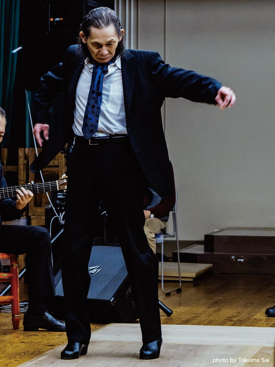 世界的フラメンコダンサーの東仲一矩さん、昨年11月24日の様子 photo by Takuma Sai