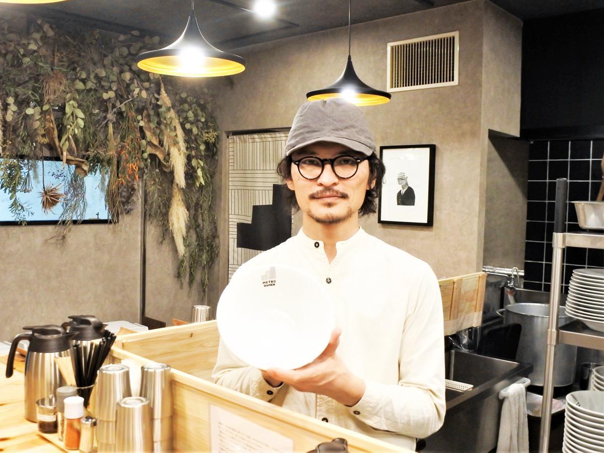 鴨だしラーメン専門店「METRO RAMEN(メトロラーメン)」店主の原勇介さん
