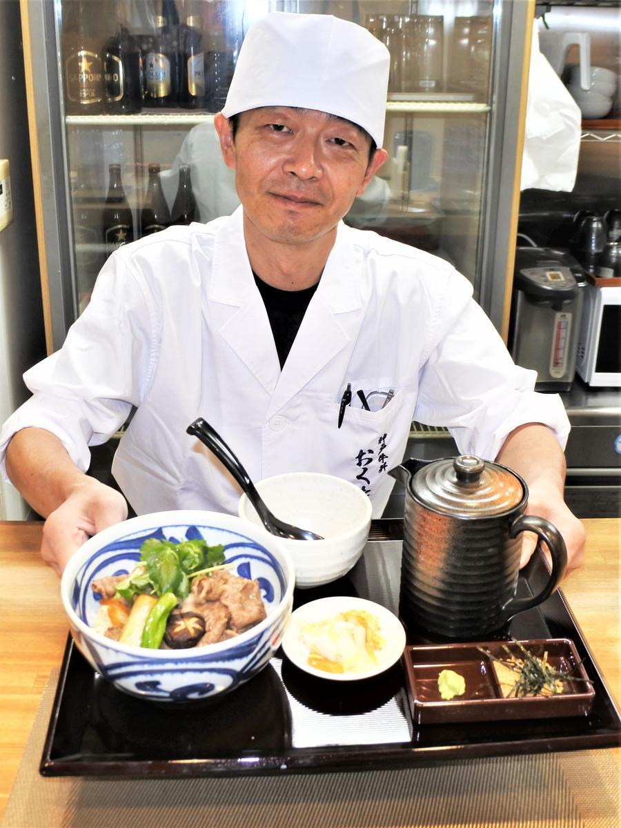 「神戸牛丼 おくたに」の大塩悌(おおしおやすし)店長