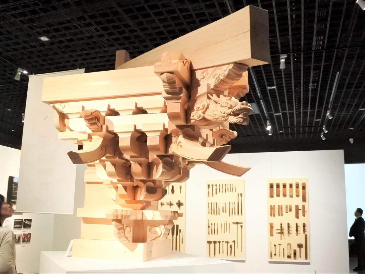 会場では、正福寺本堂復元模型(原寸)も展示する