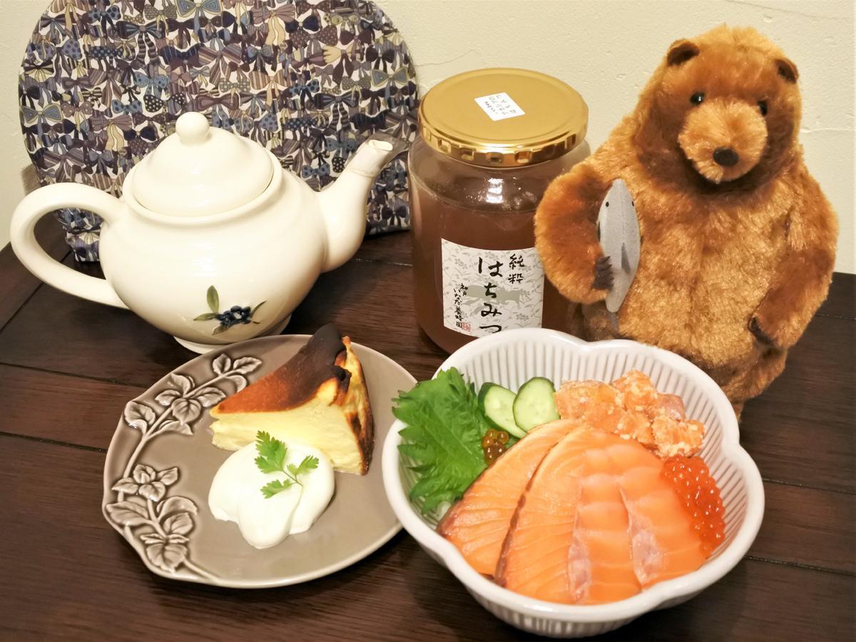 カフェメニューだけでなく、本格的なサーモン丼なども提供