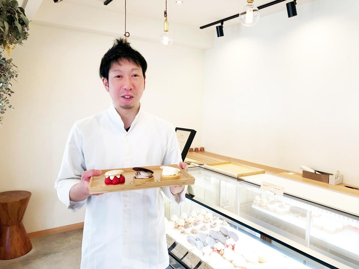 パティスリー「Cake Sky Walker(ケークスカイウォーカー)」店主の田中隆亮さん