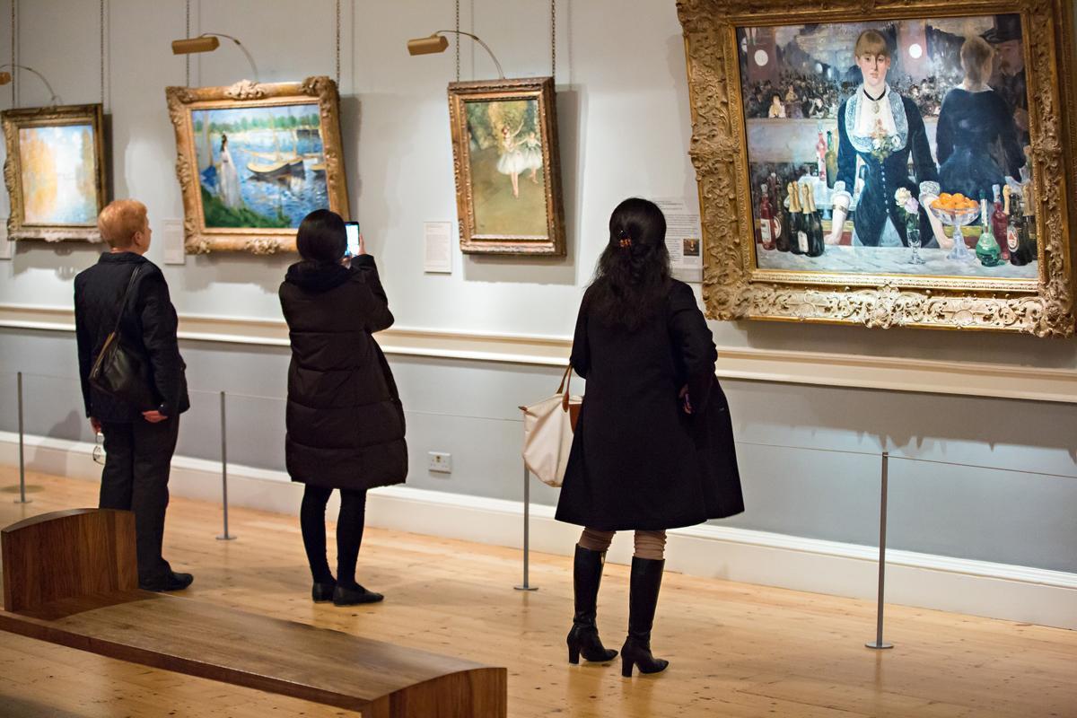 イギリス・ロンドンの「コートールド美術館」内観