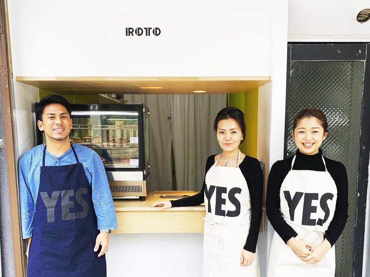 「ボンドデザイン」の伊藤正宣社長(左)、「マダムキキのお店」の徳本賀世子社長(中央)