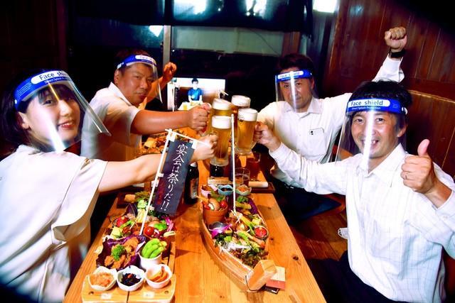 神戸・三宮の居酒屋「八百屋農園」が新型コロナ対策宴会「八百屋流ビアホール」