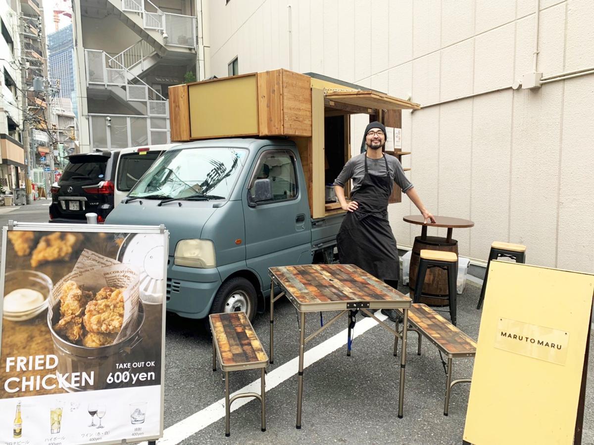神戸市内を拠点とするキッチンカーによる移動式ダイニング「ソソルキッチン MARU TO MARU(マルトマル)」店主の黒石武伸さん