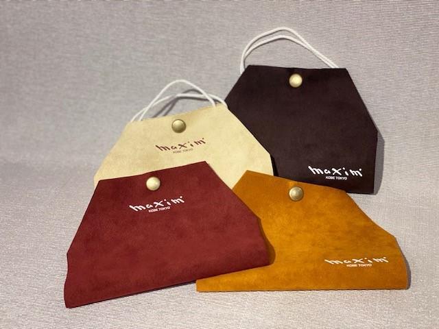 神戸トアロードの帽子製作販売専門店「マキシン(maxim)」の洗って使える自社製作マスクケース