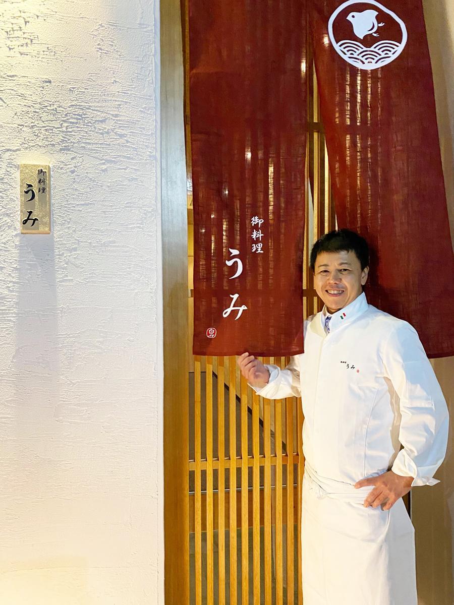 イノベーティブイタリアン「御料理 うみ」オーナーシェフの白石涼さん