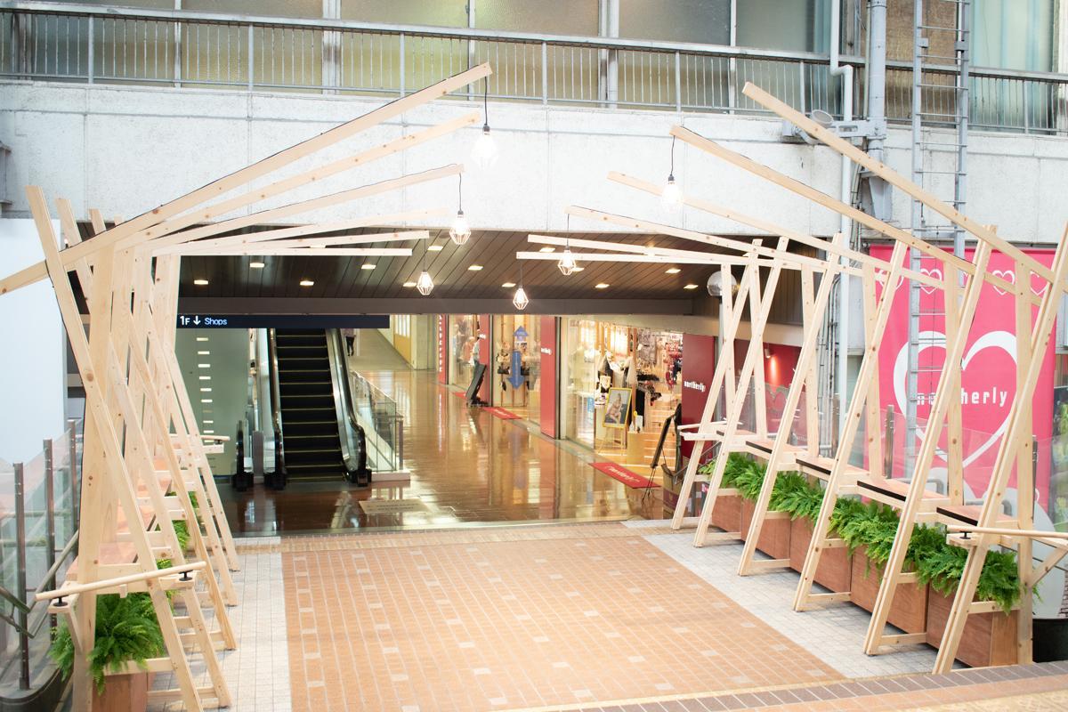 神戸・三宮センター街1丁目商店街2階Bブリッジに「三Fストリート・EAST」オープン