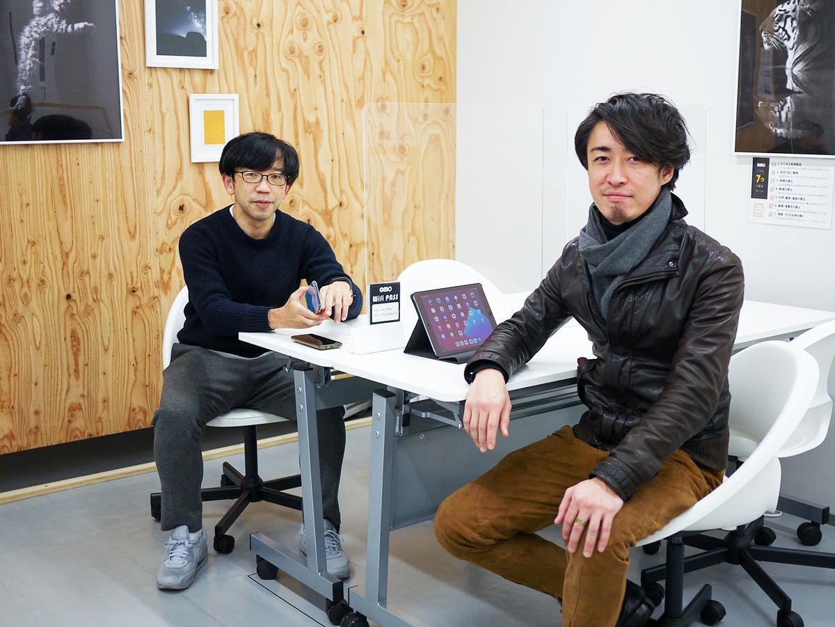 運営会社「REGINA」の熊野紀彦社長(左)とシェアアトリエ「リトルルル」代表の金谷亮佑さん(右)