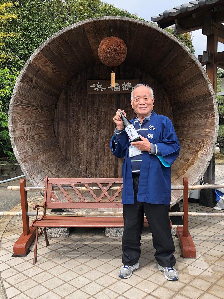 灘・魚崎郷の酒蔵「灘浜福鶴蔵」勤続66年目を迎えた名物案内人の宮脇米治さん