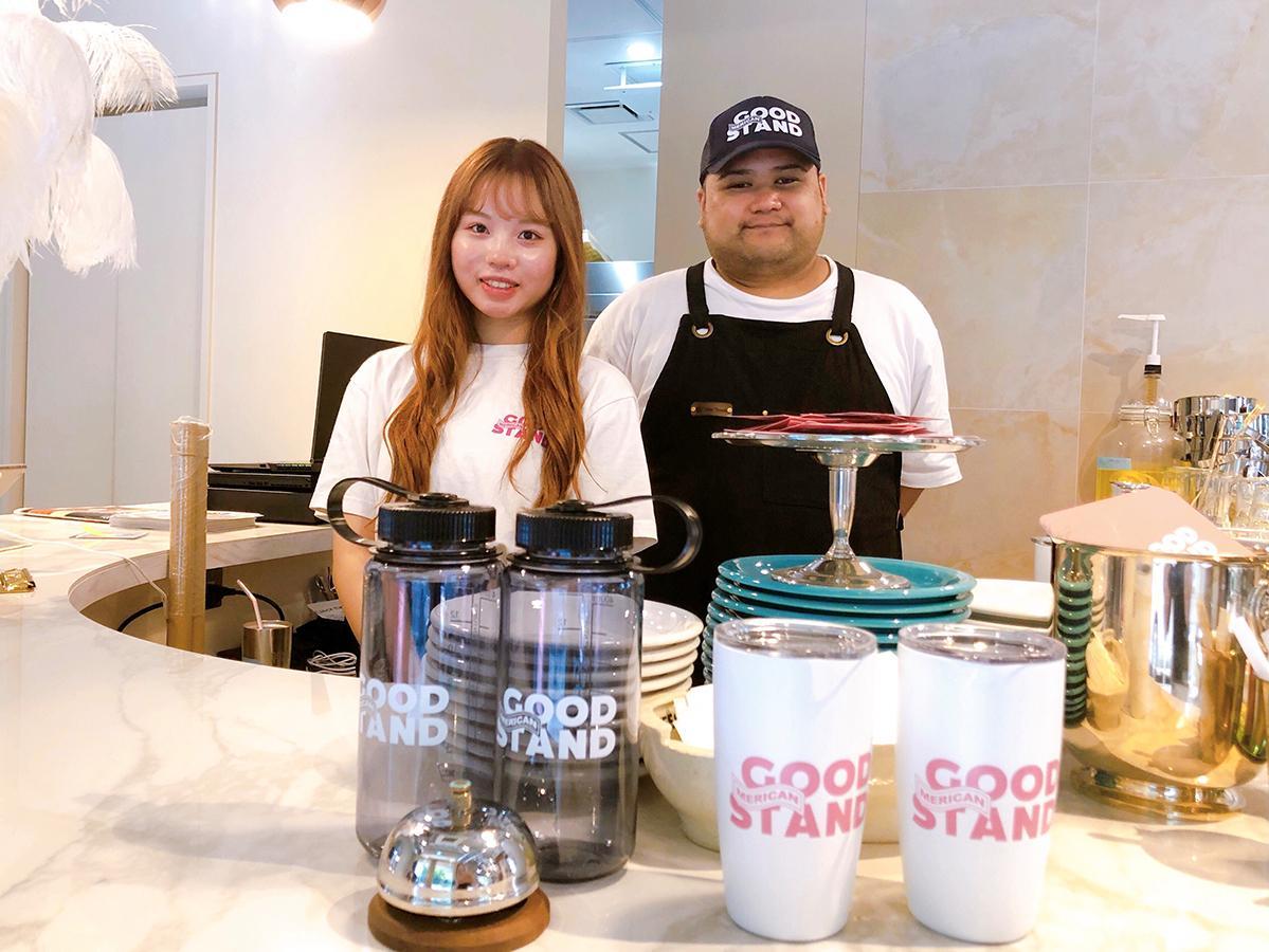 MERICAN GOODSTAND店長の矢上和樹さん(右)
