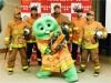 ガチャピンが神戸市消防局特別隊長に着任 火災予防動画にムック友情出演も