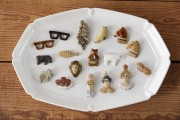 高円寺で若手陶芸作家「今井律子」展 動物モチーフのブローチ、ポットなど
