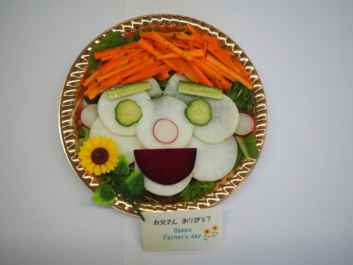似顔絵サラダのイメージ