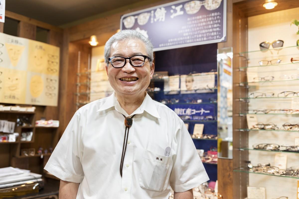 眼鏡専門店「ツバメヤ眼鏡店」店主・杉谷宗彦さん