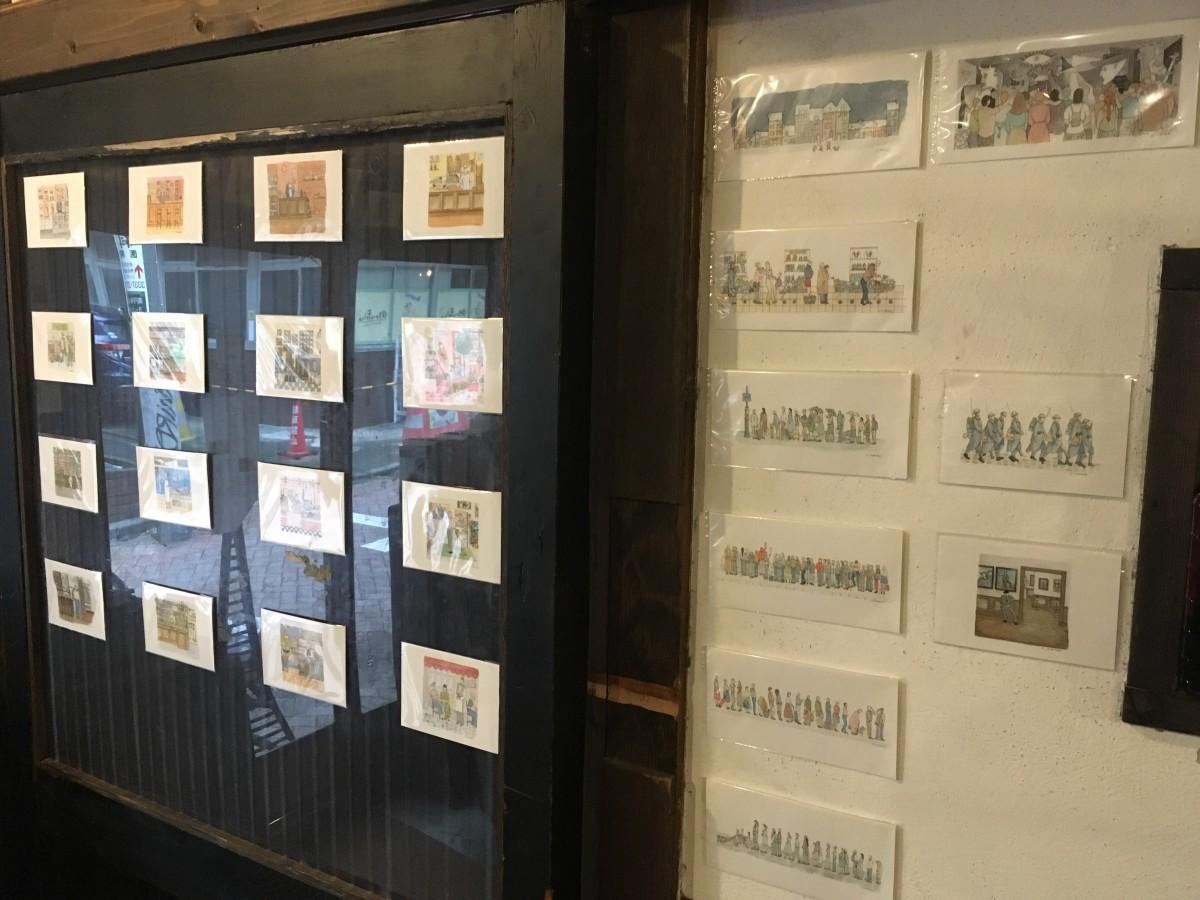 「ちいさなちいさな世界展 ドロテのミニ水彩画たち」展示の様子