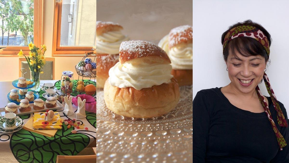 スウェーデン料理と講師の見瀬理恵子さん