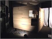 廃棄予定だった段ボール茶室、横浜で再公開-市民グループが引き取り