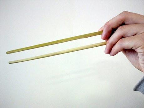 保全林の竹を使って「オリジナルマイ箸」を作る