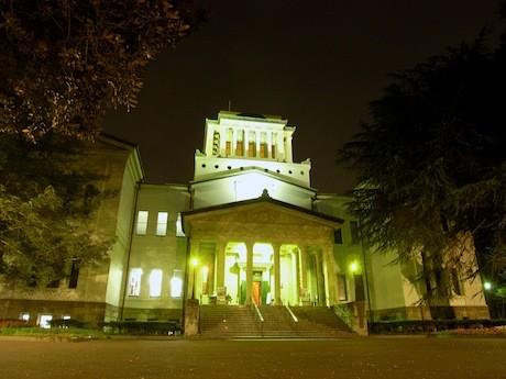 ライトアップされた大倉山記念館