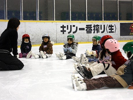前回のスケート教室の様子