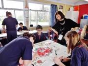 日本とニュージーランドの子どもの創作作品展示-大倉山記念館で