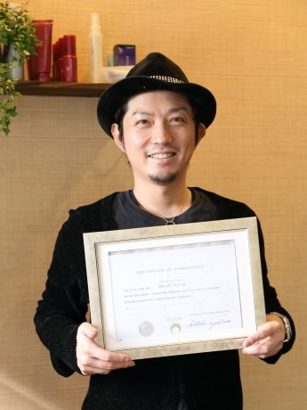 Hair&Spa KAIWAオーナー田中雅樹さん