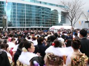 新横浜で国内最大規模の成人式 横浜市内今年の新成人は3万5331人