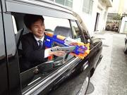 タクシーで流鏑馬 三和交通がなぜか参加型ゲームイベント