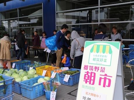 これまでに開催された都筑野菜直売の様子