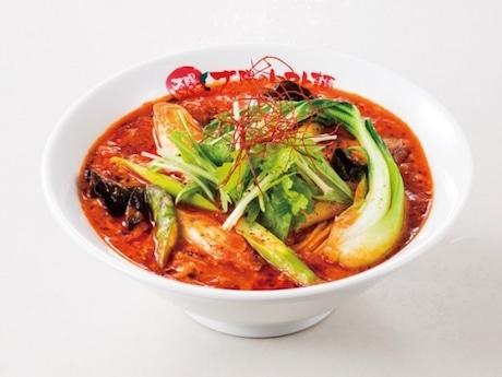 十日市場の「太陽のトマト麺」 3月限定の「グリーンアスパラとローズマリーの酸辣ベジトマ麺」