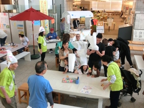横浜市民ギャラリーあざみ野でこどもの日イベント アートワゴン企画も併催
