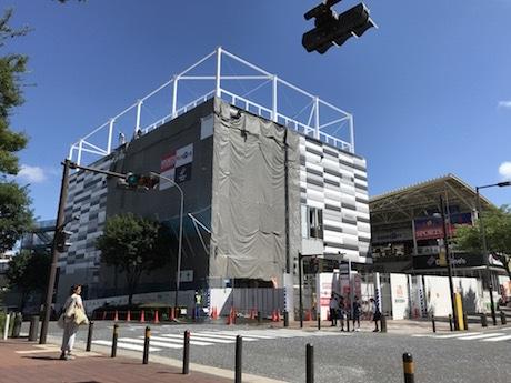 建設中の増築棟