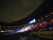日産スタジアム、マリノス対レイソル戦で「光の花火大会」
