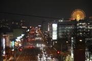 センター南の夜景スポット「トトロ」が見ごろ 区役所通りの歩道橋からくっきり